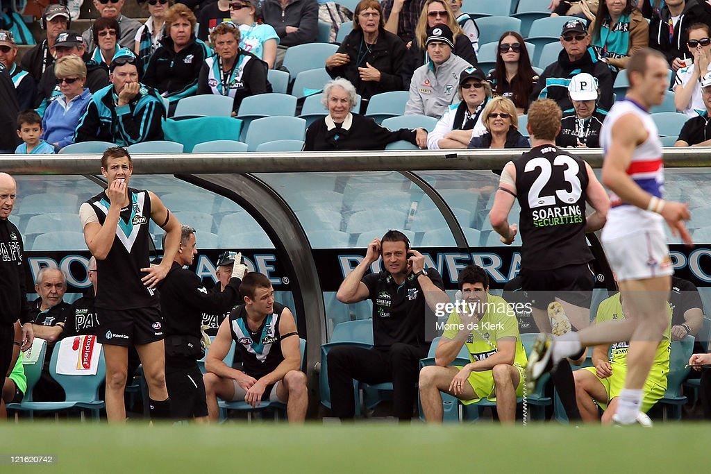 AFL Rd 22 - Port Adelaide v Western Bulldogs