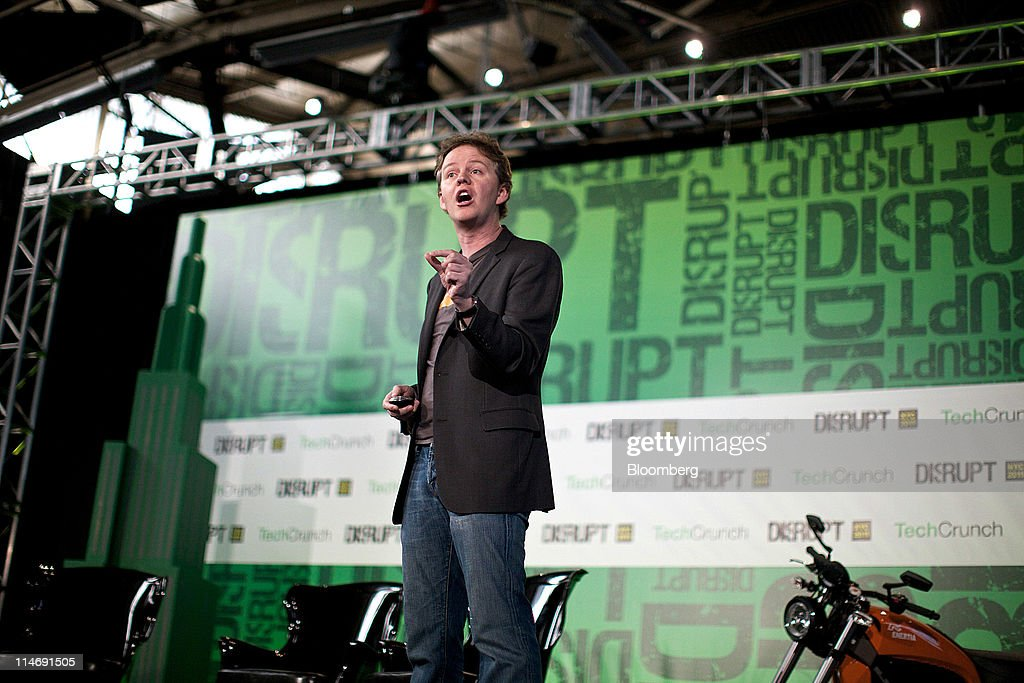 Matthew Prince, chief executive officer of CloudFlare Inc., speaks at the TechCrunch Disrupt NYC 2011 conference in New York, U.S., on Wednesday, 24, 2011. The summit brings together leaders from various tech fields to discuss how the internet is disrupting industry after industry, from media and social commerce to payments and transportation. Photographer: Guy Calaf/Bloomberg via Getty Images