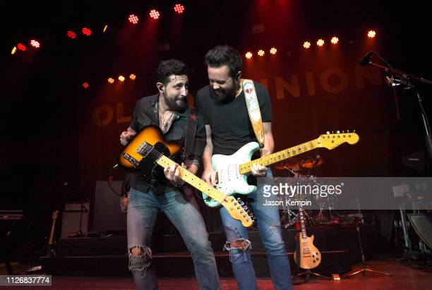 Matthew Ramsey and Brad Tursi of Old Dominion perform at The Buckhead Theatre on February 01 2019 in Atlanta Georgia