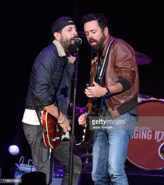 Matthew Ramsey and Brad Tursi of Old Dominion perform at the Ryman Auditorium on January 13 2020 in Nashville Tennessee