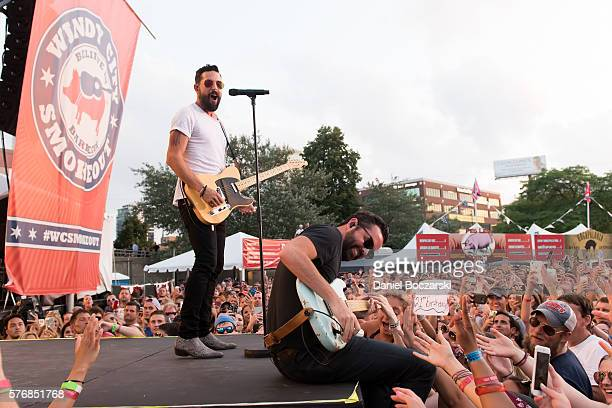 Matthew Ramsey and Brad Tursi of Old Dominion perform during the 4th Annual Windy City Smokeout BBQ and Country Music Festival on July 17 2016 in...