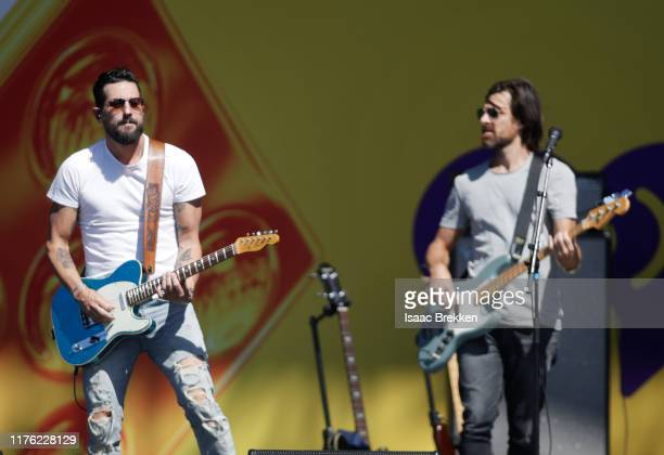 Matthew Ramsey and Geoff Sprung of Old Dominion perform onstage during the Daytime Stage at the 2019 iHeartRadio Music Festival held at the Las Vegas...