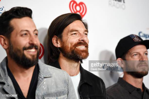Matthew Ramsey Geoff Sprung and Whit Sellers of Old Dominion attend the 2019 iHeartRadio Music Festival at TMobile Arena on September 20 2019 in Las...