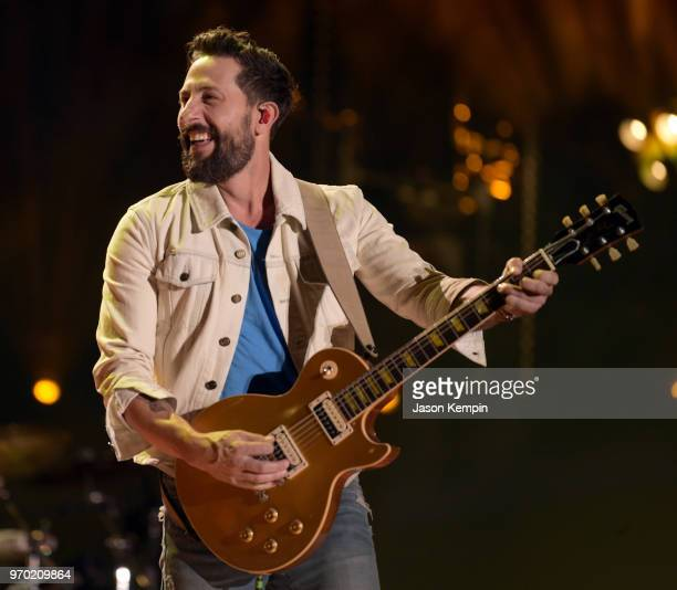 Matthew Ramsey of musical group Old Dominion performs onstage during the 2018 CMA Music festival at Nissan Stadium on June 8 2018 in Nashville...