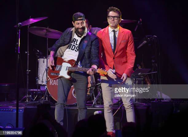 Matthew Ramsey of Old Dominion and Bobby Bones perform at the 5th Annual Million Dollar Show at Ryman Auditorium on January 13 2020 in Nashville...