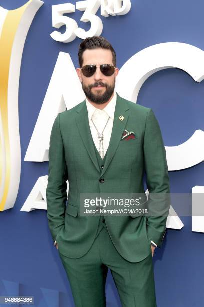 Matthew Ramsey of Old Dominion attends the 53rd Academy of Country Music Awards at MGM Grand Garden Arena on April 15 2018 in Las Vegas Nevada