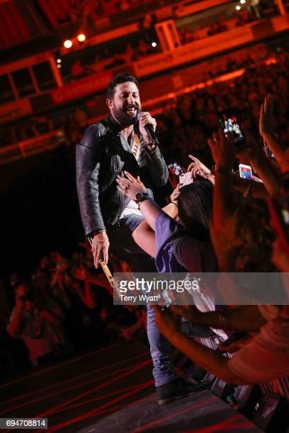 Matthew Ramsey of Old Dominion performs during day 3 of the 2017 CMA Music Festival on June 10 2017 in Nashville Tennessee