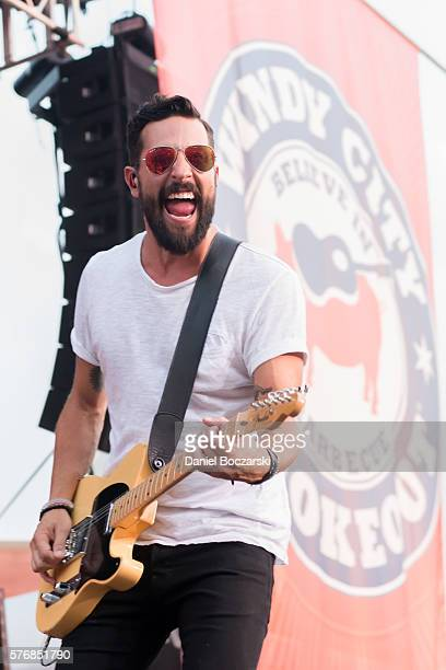 Matthew Ramsey of Old Dominion performs during the 4th Annual Windy City Smokeout BBQ and Country Music Festival on July 17 2016 in Chicago Illinois