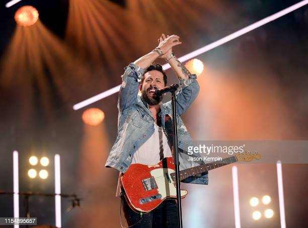 Matthew Ramsey of Old Dominion performs on stage for day 4 of the 2019 CMA Music Festival on June 09 2019 in Nashville Tennessee