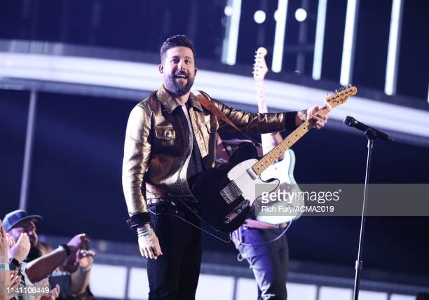 Matthew Ramsey of Old Dominion performs onstage during the 54th Academy Of Country Music Awards at MGM Grand Garden Arena on April 07 2019 in Las...