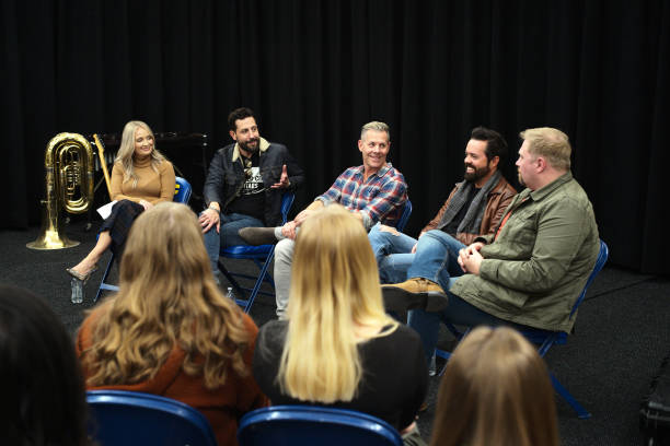 MN: CMA Foundation And U.S. Bank With Members Of Old Dominion And Songwriter Josh Osborne Visit Columbia Heights High School