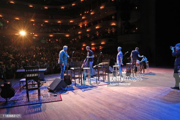 Matthew Ramsey Trevor Rosen and Brad Tursi members Of Old Dominion and songwriter Josh Osborne perform at the Ordway Performing Arts Center during...