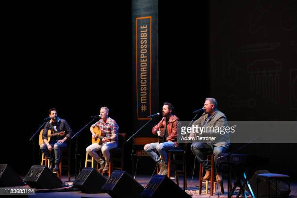 Matthew Ramsey Trevor Rosen and Brad Tursi members of the band Old Dominion and songwriter Josh Osborne perform at the Ordway Performing Arts Center...