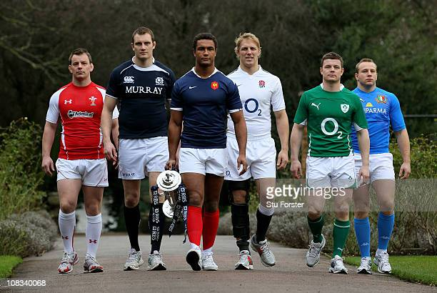 Matthew Rees of Wales Alastair Kellock of Scotland Thierry Dusautoir of Scotland Lewis Moody of England Brian O'Driscoll of Ireland and Leonardo...
