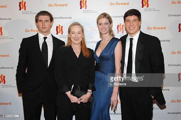 """Matthew Reeve, actress Meryl Streep, Alexandra Reeve and Will Reeve attend """"A Magical Evening"""" hosted by The Christopher and Dana Reeve Foundation at..."""