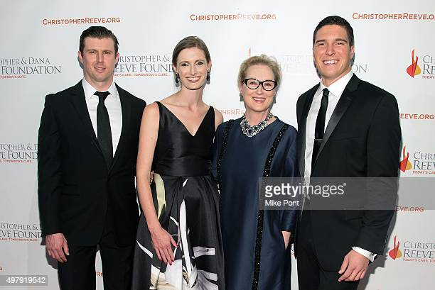 Matthew Reeve Alexandra Reeve actress Meryl Streep and Will Reeve attend The Christopher and Dana Reeves Foundation's 'A Magical Evening' Gala at...