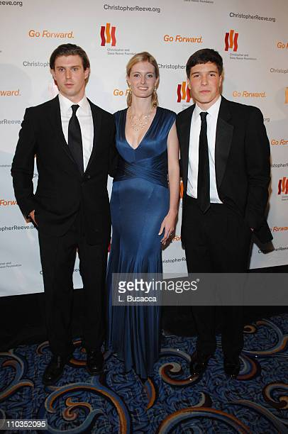 """Matthew Reeve, Alexandra Reeve and Will Reeve attend """"A Magical Evening"""" hosted by The Christopher and Dana Reeve Foundation at The Marriott Marquis..."""