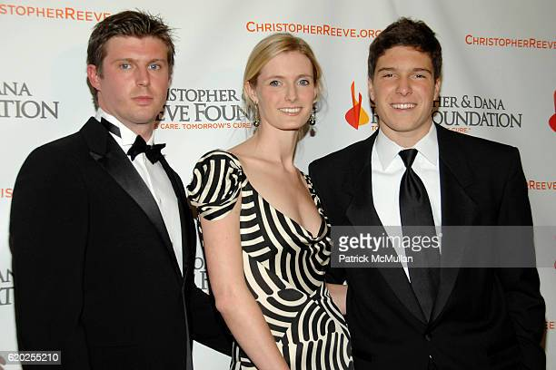 Matthew Reeve Alexandra Reeve and Will Reeve attend BROADWAY COMES ALIVE CHRISTOPHER DANA REEVE FOUNDATION Charity Gala at Mariott Marquis on...