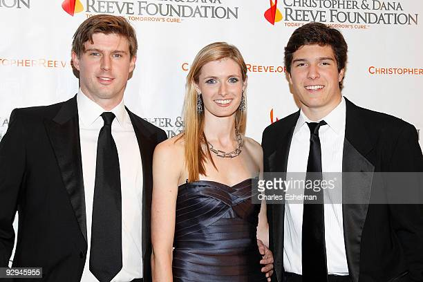 Matthew Reeve Alexandra Reeve and Will Reeve attend the Christopher Dana Reeve Foundation's 'A Magical Evening' Gala at the Marriot Marquis on...