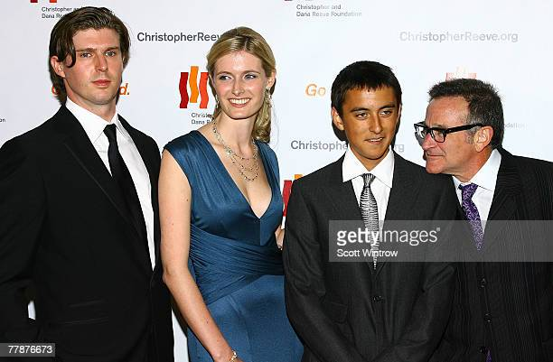 "Matthew Reeve, Alexandra Reeve, Cody Williams and actor Robin Williams attend The Christopher & Dana Reeve Foundation's ""A Magical Evening"" Gala at..."