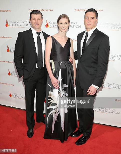 Matthew Reeve Alexandra Reeve Givens and Will Reeve attend The Christopher And Dana Reeve Foundation's 'A Magical Evening' Gala at Cipriani Wall...