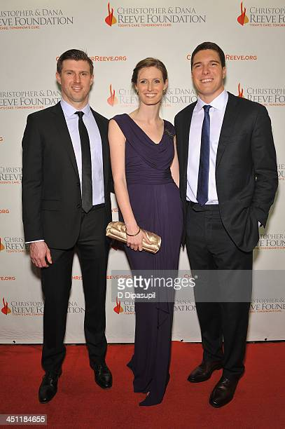 Matthew Reeve Alexandra Reeve Givens and Will Reeve attend the Christopher Dana Reeve Foundation's A Magical Evening Gala at Cipriani Wall Street on...