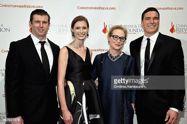 Matthew Reeve Alexandra Reeve Givens Meryl Streep and Will Reeve attend The Christopher Dana Reeve Foundation 25th Anniversary A Magical Evening Gala...