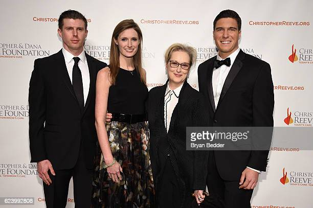 Matthew Reeve Alexandra Reeve Givens Meryl Streep and Will Reeve attend the Christopher Dana Reeve Foundation hosts 'A Magical Evening' at Cipriani...