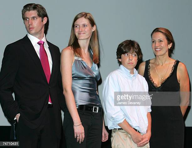 Matthew Reeve, Alexandra Reeve, Will Reeve and Dana Reeve at the Lincoln Center - Alice Tully Hall in New York City, New York