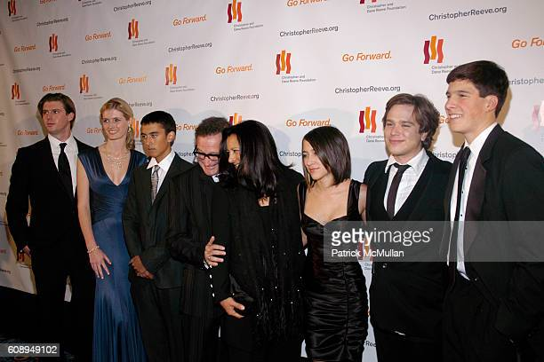 Matthew Reeve Alexandria Reeve Cody Williams Robin Williams Marsha Williams Zelda Williams Zachary Williams and Wil Reeve attend THE CHRISTOPHER DANA...