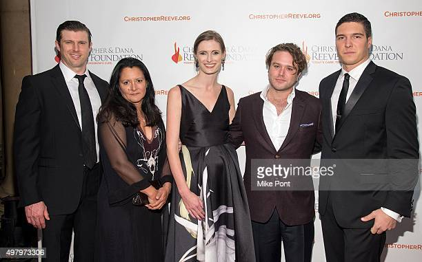 Matthew Reeve Marsha Garces Alexandra Reeve Givens Zachary Pym Williams and Will Reeve attend The Christopher and Dana Reeve Foundation's 'A Magical...