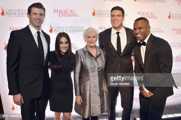 Matthew Reeve Nicole Adamo Glenn Close William Reeve and DJ Whoo Kid attend A Magical Evening Gala hosted by The Christopher Dana Reeve Foundation a...