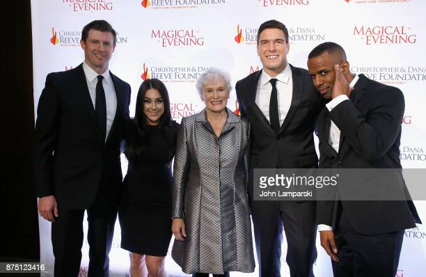 """Matthew Reeve, Nicole Adamo, Glenn Close, William Reeve, and DJ Whoo Kid attend 2017 Christopher & Dana Reeve Foundation """"A Magical Evening"""" Gala at..."""