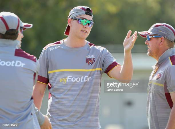 BRISBANE AUSTRALIA Matthew Renshaw at warm up before the start of play of the JLT One Day Cup match between Queensland and the Cricket Australia XI...