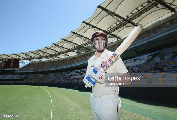 Matthew Renshaw of QLD during day one of the Sheffield Shield match between Queensland and Victoria at the Gabba on October 26 2017 in Brisbane...