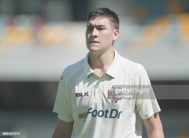 Matthew Renshaw of QLD leaves the field after getting out during day one of the Sheffield Shield match between Queensland and Victoria at the Gabba...