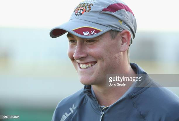 Matthew Renshaw of QLD smiles at the end of play during the JLT One Day Cup match between Queensland and the Cricket Australia XI at Allan Border...