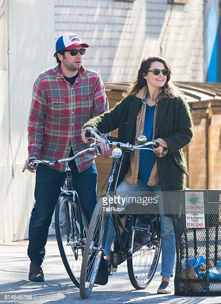 Matthew Rhys and Keri Russell are seen on March 9 2016 in New York City
