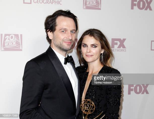 Matthew Rhys and Keri Russell attend FOX Broadcasting Company, FX, National Geographic and 20th Century Fox Television 2018 Emmy Nominee Party at...