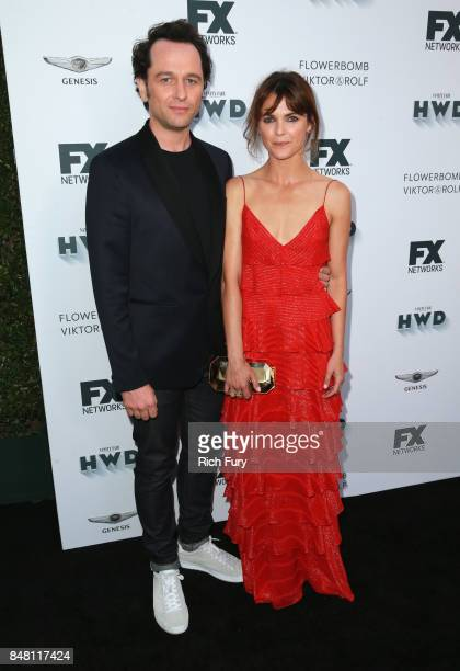 Matthew Rhys and Keri Russell attend FX and Vanity Fair Emmy Celebration at Craft on September 16 2017 in Century City California