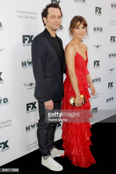 Matthew Rhys and Keri Russell attend FX Networks celebration of their Emmy nominees in partnership with Vanity Fair at Craft on September 16 2017 in...