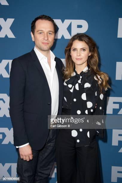 Matthew Rhys and Keri Russell attend the 2018 Winter TCA Tour at The Langham Huntington Pasadena on January 5 2018 in Pasadena California