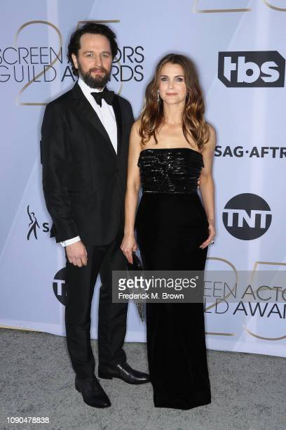 Matthew Rhys and Keri Russell attend the 25th Annual Screen Actors Guild Awards at The Shrine Auditorium on January 27 2019 in Los Angeles California...