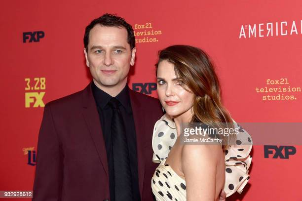 Matthew Rhys and Keri Russell attend The Americans Season 6 Premiere at Alice Tully Hall Lincoln Center on March 16 2018 in New York City