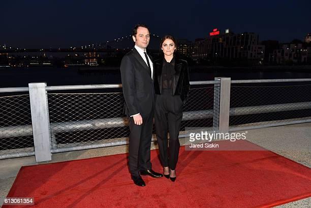 Matthew Rhys and Keri Russell attend the Brooklyn Bridge Park Conservancy hosts the Brooklyn Black Tie Ball at Pier 2 at Brooklyn Bridge Park on...