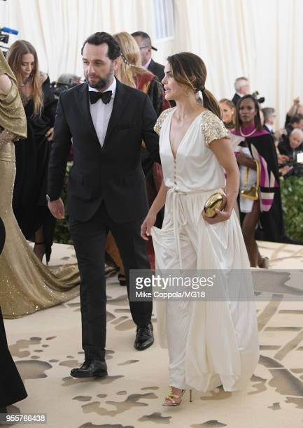Matthew Rhys and Keri Russell attend the Heavenly Bodies Fashion The Catholic Imagination Costume Institute Gala at The Metropolitan Museum of Art on...