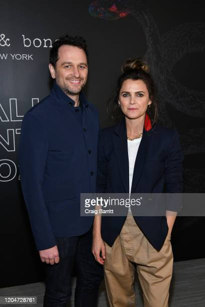 Matthew Rhys and Keri Russell attends rag & bone Fall/Winter 2020 at Skylight on Vesey on February 07, 2020 in New York City.