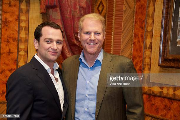 "Matthew Rhys and Noah Emmerich at ""The Americans"" Press Conference at the Russian Tea Room on March 18, 2014 in New York City."