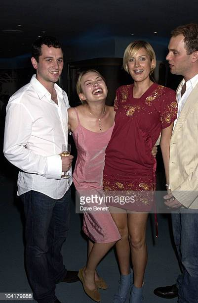 Matthew Rhys And Sophie Myles With Alice Evans And Daniel La Paine The Abduction Club Movie Party At The Conradgallagher Bar In Shafesbury Avenue In...