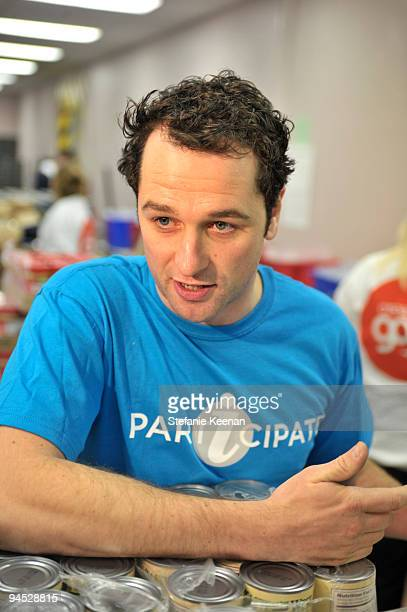 Matthew Rhys attends AARP's Create the Good and EIF's iParticipate to Volunteer at the Los Angeles Regional Food Bank